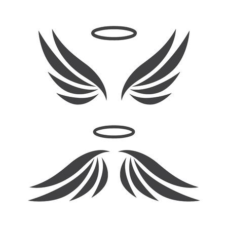 Vector sketch of angel wings Illustration