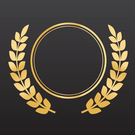 finest: Golden laurel wreaths