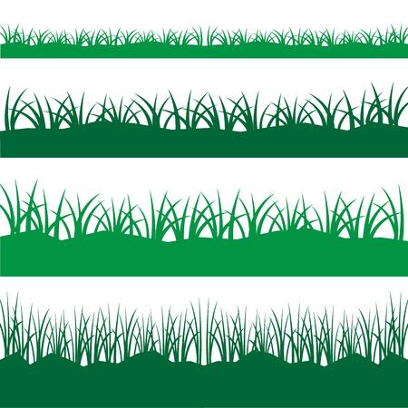 grass vector: silhouette black grass vector set