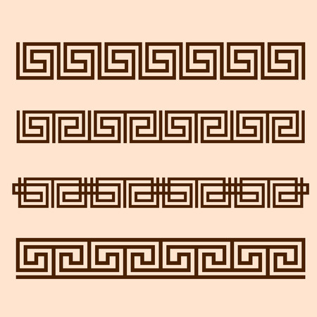 greek columns: Vector Greek ornament.