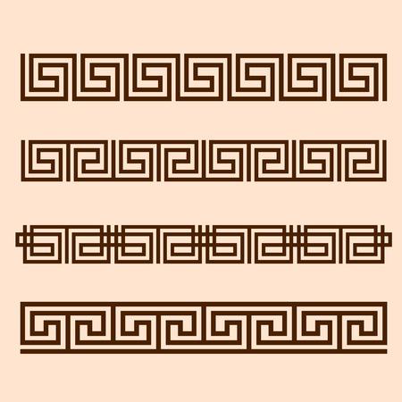 greek column: Vector Greek ornament.