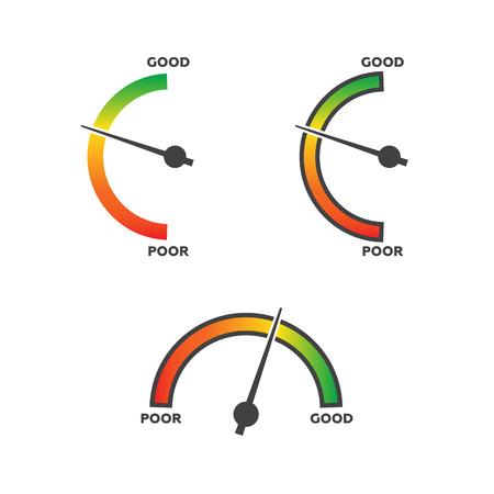 Vertical meters vector template Illustration