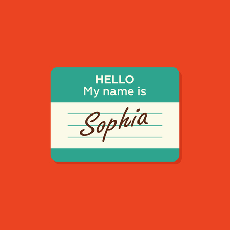 Hello my name is card, Label sticker, introduce badge welcome, vector illustration Stok Fotoğraf - 54665526
