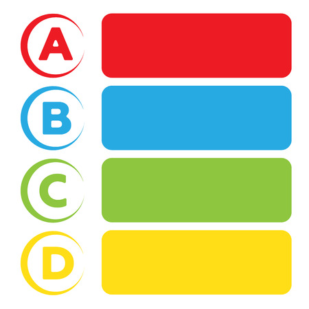 Vector background with four choices ABCD