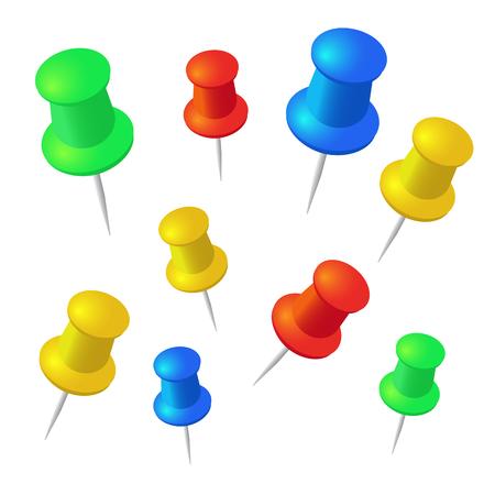 push pins: Push pins vector set