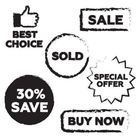bargains: white background with isolated sale stamp
