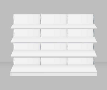 retail display: Empty retail store shelf vector Illustration
