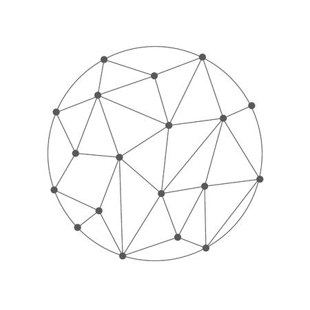 mesh: Wireframe 3D mesh polygonal vector sphere
