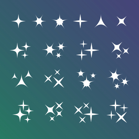 Sparkles icons vector set