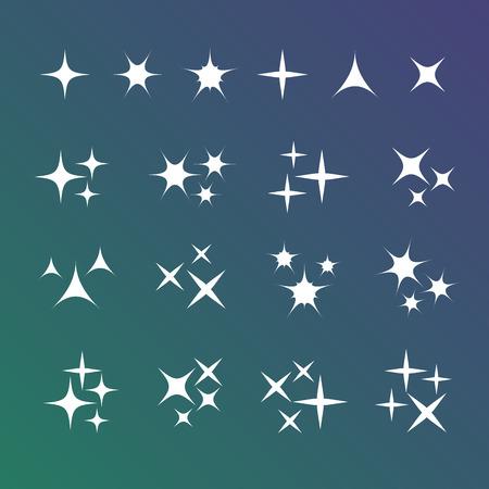 Sparkles set di icone vettore Vettoriali