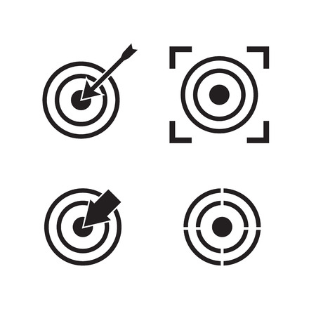 set the intention: Target icons Illustration