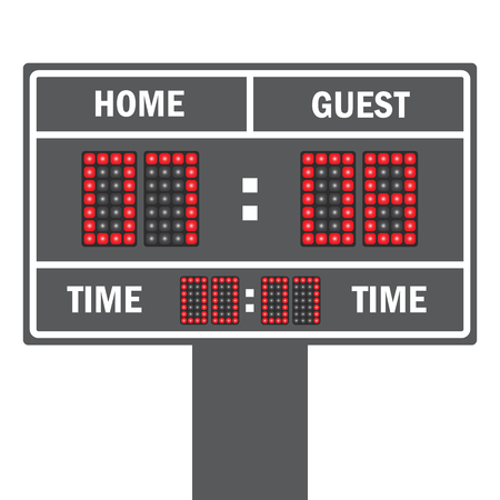 possession: Vector illustration of a LED football scoreboard with fully editable data and space for user info Illustration