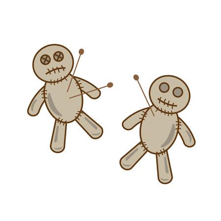 voodoo doll: Halloween voodoo doll vector Illustration