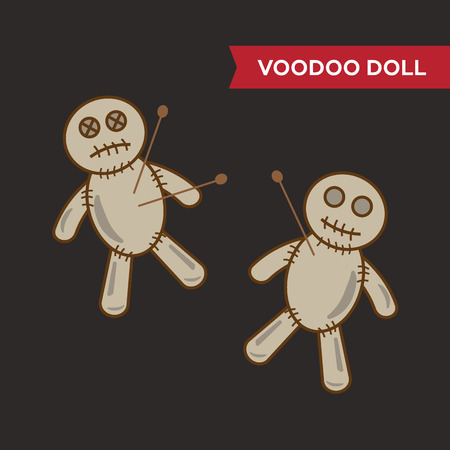 voodoo doll: Voodoo doll vector set