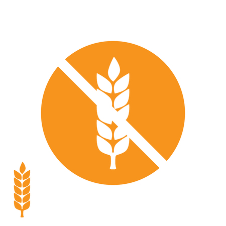 carbohydrates: Wheat yellow gluten free grain icon