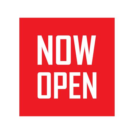 オープン、赤いベクトルは今開いて、今赤タグを今開いて、背景を開く、今の図を開くと、現在開いている要素、今開いているサイン、今オープンな設計 写真素材 - 54901139