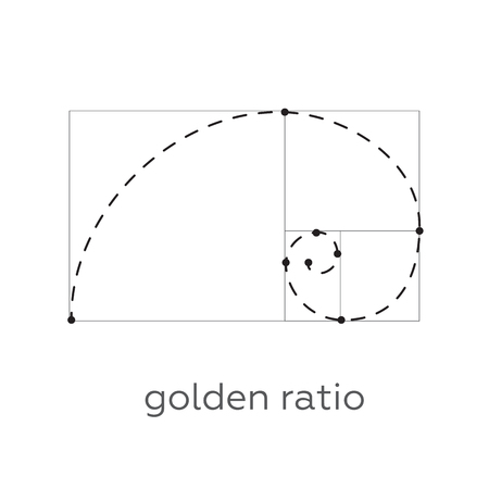 proportion: Symbol of the golden ratio tattoo black lines