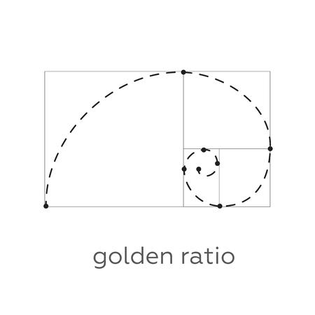 fibonacci number: Symbol of the golden ratio tattoo black lines