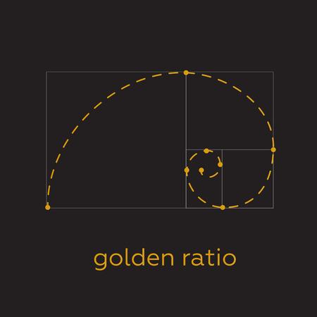 nombre d or: Symbole du rapport d'or tatouage lignes noires