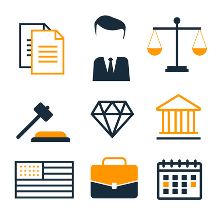 juridical: Legal compliance deal protection and copyright regulation. Copyright legal, protection and regulation Illustration