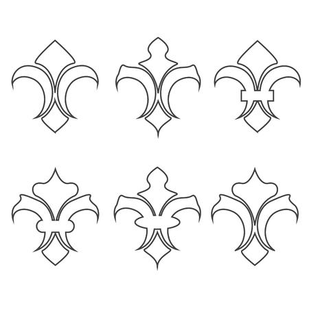 lis: Collection of fleur de lis symbols vector