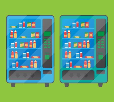 Automaat reclame poster met hapjes en drankjes