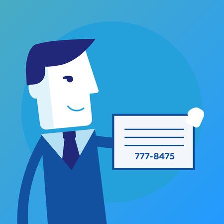 busness: Businessman shows a business card