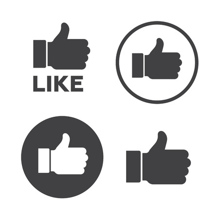 illustrator  vector: Like icons set vector illustrator.