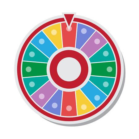 rueda de la fortuna: Rueda de la fortuna ilustraci�n vectorial