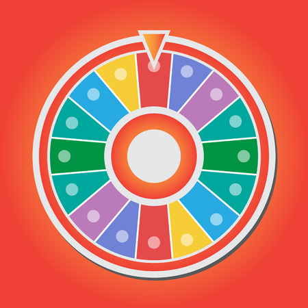 fortune: Wheel of fortune vector icon