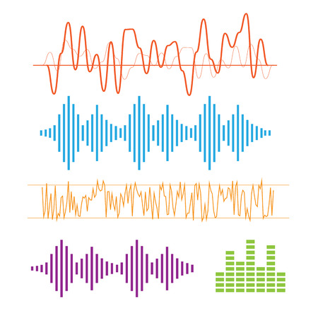 sonic: Color sound waves. Music technology, digital design, stereo equalizer