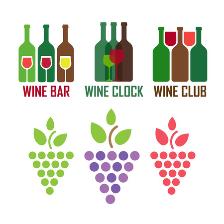 tasting: Tasting wine icons. Wine and sommelier icons Illustration
