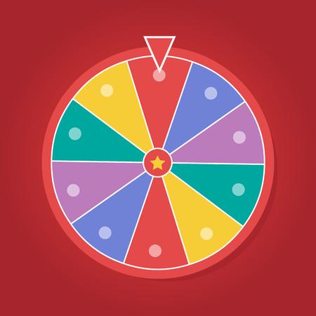 Lucky wheel vector template. Color lucky wheel eps10