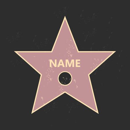 fame: Walk of fame star.