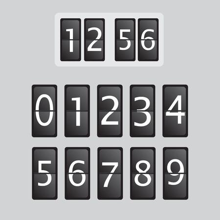 colgajo de la pared del reloj contador de plantilla de vectores. Reloj de tiempo