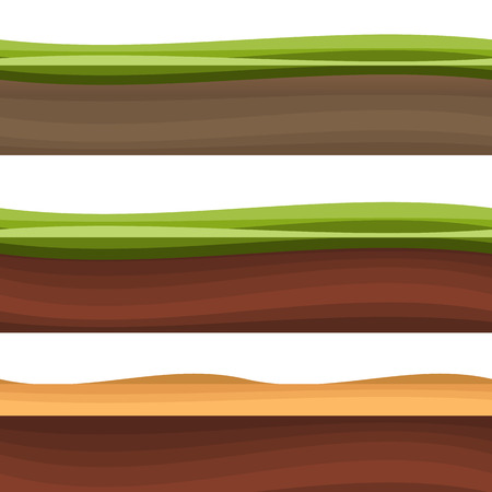 in layers: Layers of grass with Underground layers