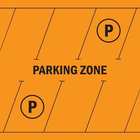 places: Park with parking places parking zone