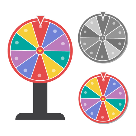 wheel of fortune: Wheel of fortune vector illustration in flat style Illustration