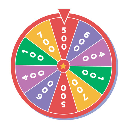 wheel of fortune: Wheel of fortune. Vector illustration in flat style Illustration