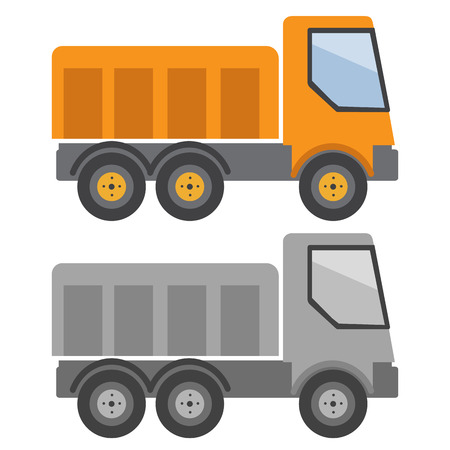 tipper: Tipper truck vector illustration in flat style