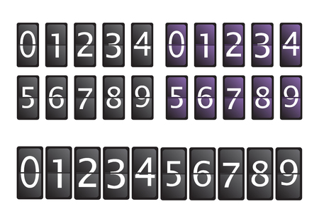 remaining: Count timer set vector illustration Illustration