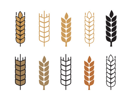 Wheat ear icon set vector illustration Ilustracja