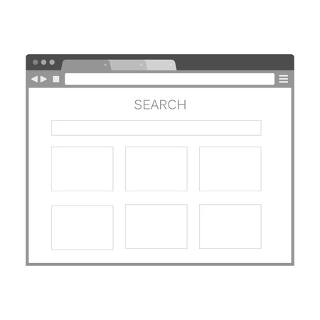 screenshot: Simple browser window on white background