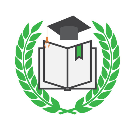 alumna: Education concept with mortarboard