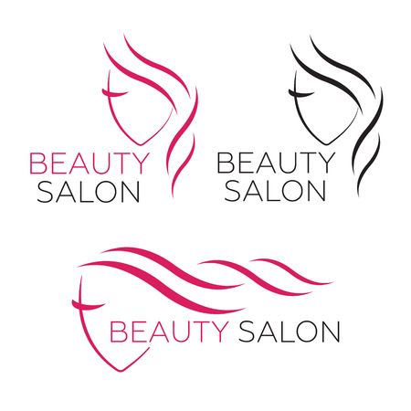 group therapy: Beautiful woman template for hair salon Illustration