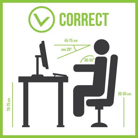ergonomic: Correct sitting posture