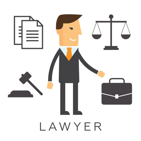 solicitor: Lawyer concept icon