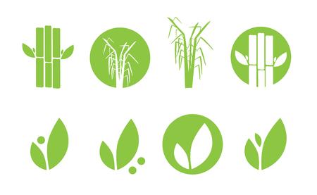 sugarcane: Sugar cane icons set illustration Illustration
