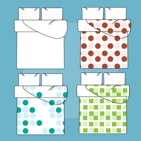 sample: Bedding mockup and sample patterns fills