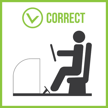 incorrect: Correct and incorrect posture for driver